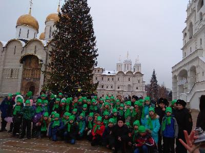 Саратовские школьники на общероссийской новогодней ёлке в Государственном Кремлевском Дворце